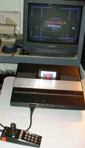 Atari 5200 with standard controller displaying