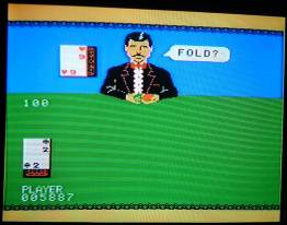 Play screen of ColecoVision Ken Uston Blackjack/Poker on television
