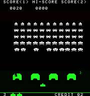 Screen shot of Space Invaders from MAME.