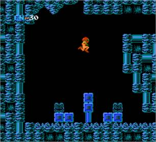 Screenshot of Metroid taken from the FCE Ultra NES emulator.