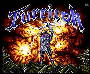 Title screen of Turrican taken from the WinUAE Emulator.