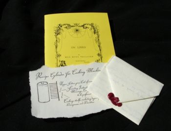 Feelies for 'Savoir-Faire' (booklet, letter and scrap of an old docu<i></i>ment)