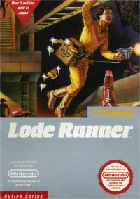Box cover for Broderbund's 'Lode Runner'