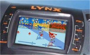Simulated screenshot from Alpine Games shown on an Atari <code />Lynx (Model II)