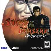 Scan of the manual cover for Sword of the Berserk: Guts' Rage from Eidos for the Sega Dreamcast