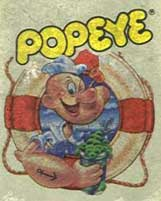 Scan of the label for the ColecoVision Popeye Cartridge (Courtesy of Bill Loguidice)