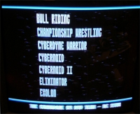 Commodore 30-in-1 screenshot of main menu from television