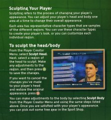 Excerpt from Top Spin manual explaining character design