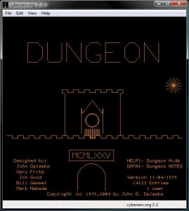 Dungeon title screen
