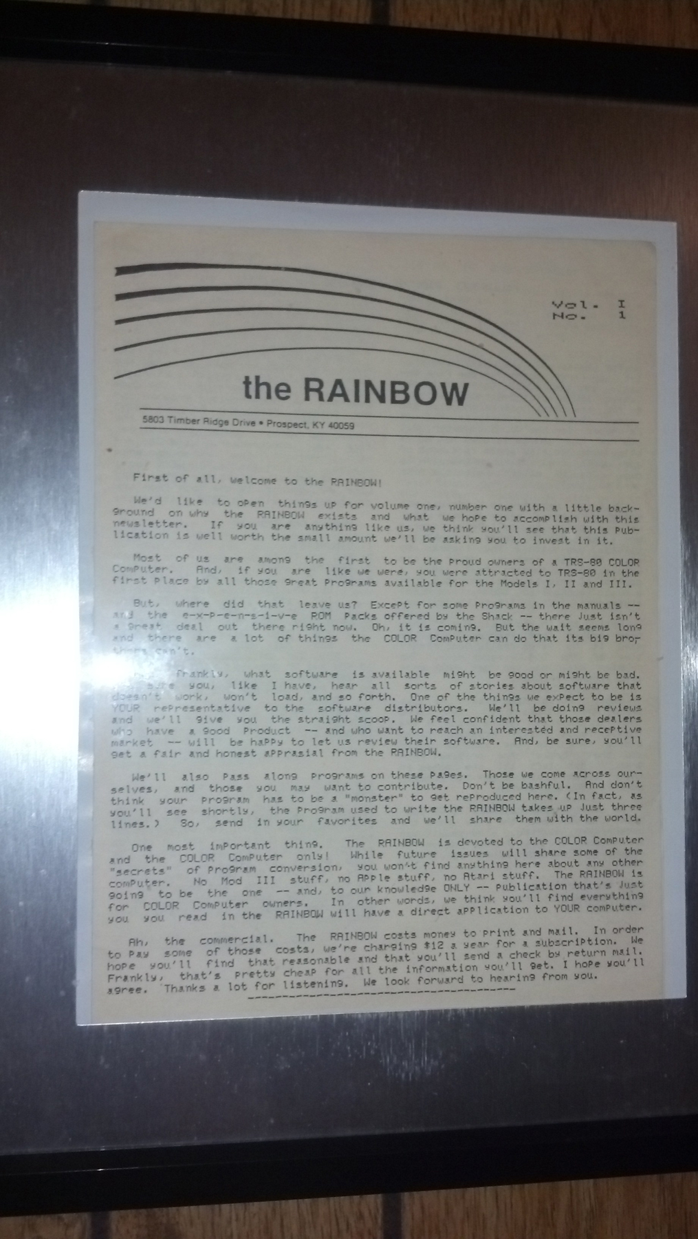 The Rainbow Issue 1