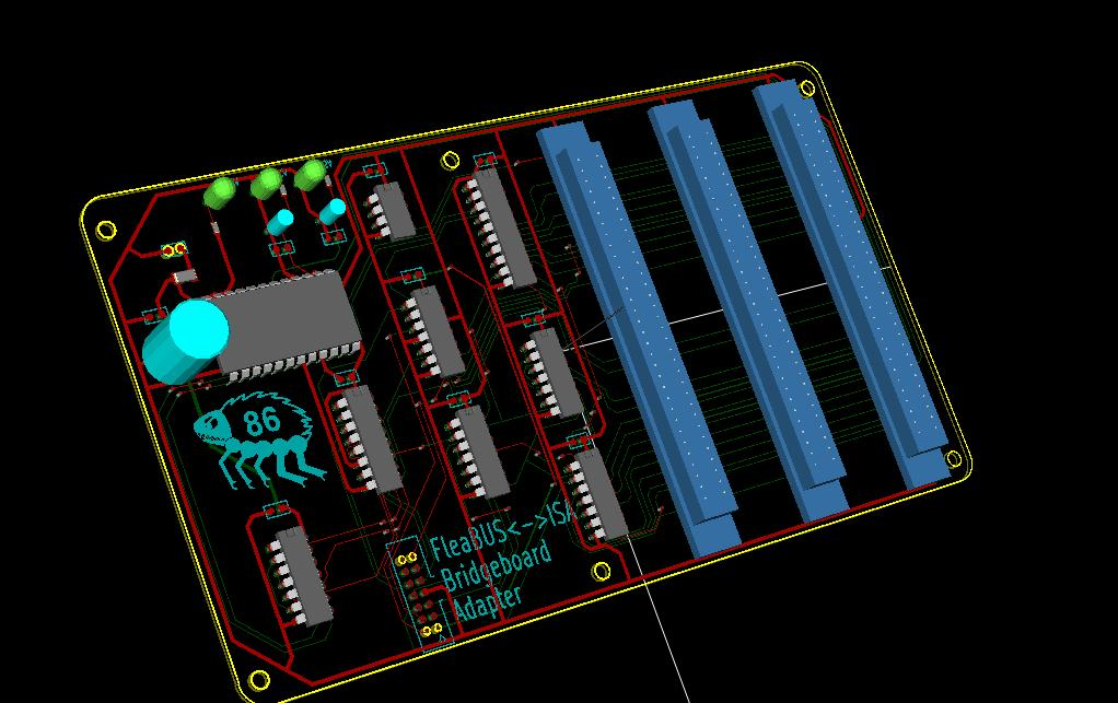 ISA bridgeboard option - PCB artwork