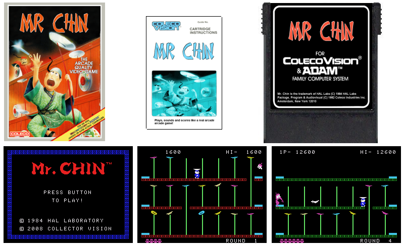 Mr. Chin for ColecoVision
