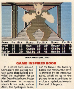 Shadowkeep as mentioned in the 11/84 Electronic Games magazine