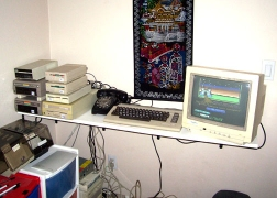 Cottonwood BBS Headquarters: C-64, multiple disk drives, CMD hard drive, etc.