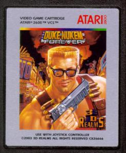 Duke Nukem Forever for the Atari 2600 VCS