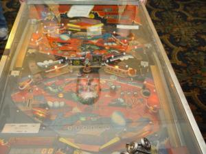 Closeup of Joust Pinball