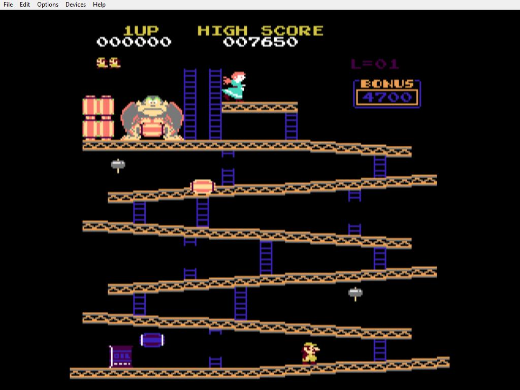 Donkey Kong on CoCo 3