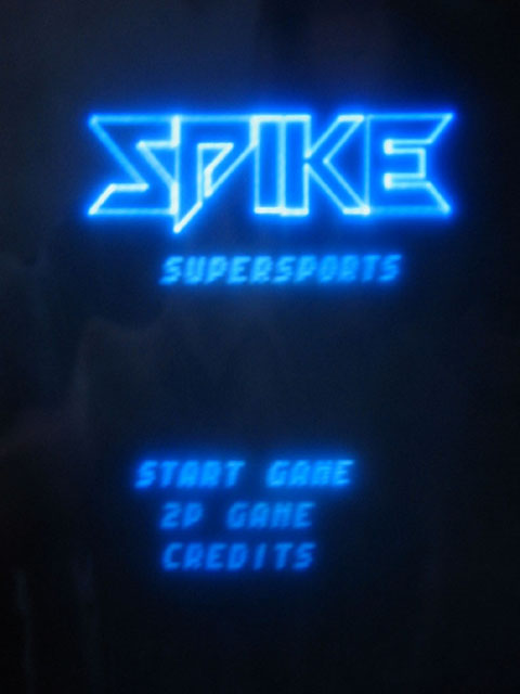 Spike Supersports Title Screen (Vectrex)