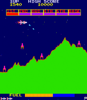 Konami's Scramble (1981) arcade screenshot